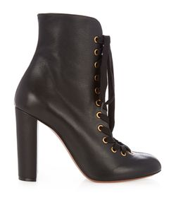 Chloé | Miles Lace-Up Leather Ankle Boots
