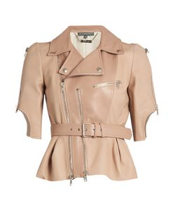Alexander McQueen   Cropped Leather Jacket