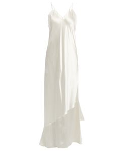 Ryan Roche | Asymmetric-Hem Satin Slip Dress