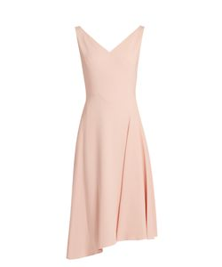 Osman | Elizabeth V-Neck Crepe Dress