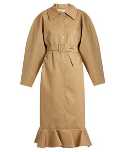 A.W.A.K.E. | Jellyfish Fluted-Hem Oversized Trench Coat