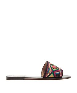 Valentino | Native Couture Bead-Embellished Leather Slides