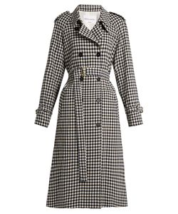 Sonia Rykiel | Gingham Wool Trench Coat