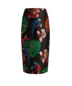 Valentino | Tropical Dream-Jacquard Pencil Skirt