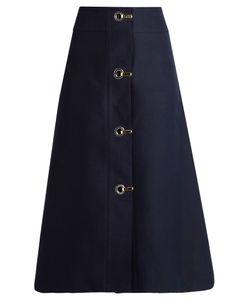 Marni | High-Waisted A-Line Cotton Midi Skirt