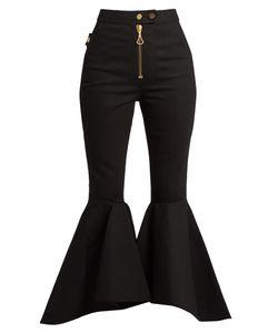 Ellery   Alejandro Ruffled-Panel Cropped Jeans