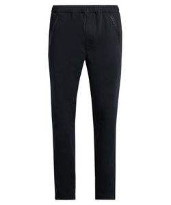 BOTTEGA VENETA   Intrecciato-Trimmed Straight-Leg Chino Trousers