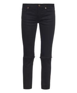 Saint Laurent | Mid-Rise Distressed Skinny Jeans