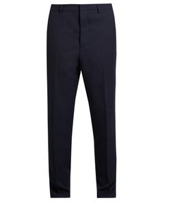 AMI   Carrot-Fit Wool-Twill Trousers