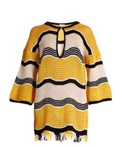 Fendi | Wave-Stripe Crochet Dress