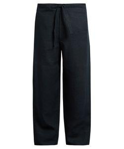 HECHO   Drawstring-Waist Linen Trousers