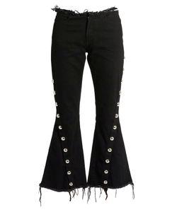 MARQUES'ALMEIDA   Frayed-Edge Mid-Rise Fla Jeans