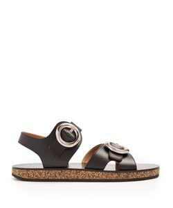 Joseph | Oversized-Buckle Leather Sandals