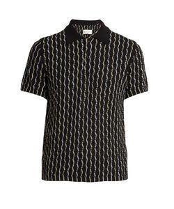 Maison Margiela | Short-Sleeved Cotton-Weave Polo Shirt