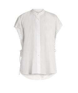 Helmut Lang | Tie-Side Cotton Poplin Shirt