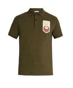 Valentino | Chest-Appliqué Cotton Polo Shirt