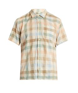 Oliver Spencer | Hawaiian Checked Cotton-Blend Shirt