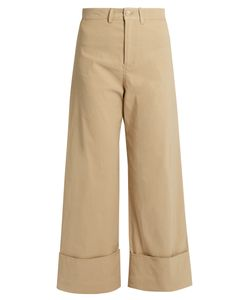 Sea | Mid-Rise Wide-Leg Cropped Trousers
