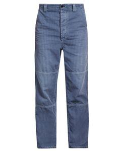 Burberry   Herringbone Cotton-Blend Wide-Leg Trousers