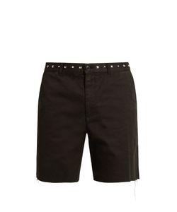 Saint Laurent | Embellished-Waist Cotton Shorts