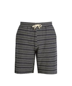 Oliver Spencer | Weston Striped-Print Cotton Shorts