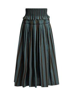 Brock Collection | Sibylle Striped Taffeta Skirt