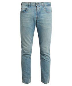 Gucci | Loved-Appliqué Slim-Leg Cropped Jeans