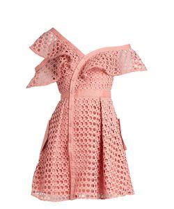 Self-Portrait | One-Shoulder Guipure-Lace Mini Dress