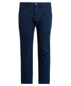 Blue Blue Japan   Slim-Fit Cropped Trousers