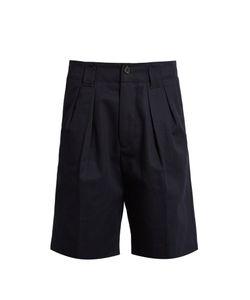 ACNE STUDIOS | Alex H Pleated Cotton-Twill Shorts