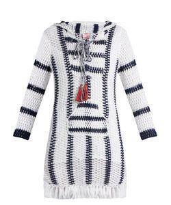 Anna Kosturova | Cape Cod Striped-Crochet Hooded Dress