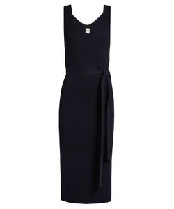 Khaite | Maya V-Neck Ribbed-Knit Dress