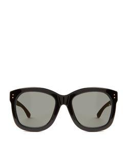 Linda Farrow | Wood And Acetate D-Frame Sunglasses