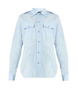 Balenciaga   Flapped-Pocket Cotton Shirt