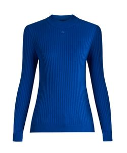 Courrèges | Roll-Neck Ribbed-Knit Sweater