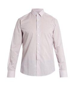 Lanvin   Spread-Collar Single-Cuff Pinstriped Cotton Shirt