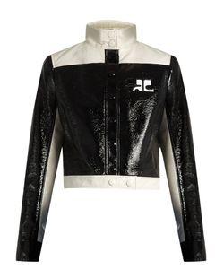 Courrèges | Contrast-Panel Faux Patent-Leather Jacket