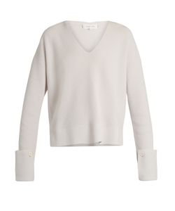 Helmut Lang | Button-Cuff Cotton And Wool-Blend Sweater
