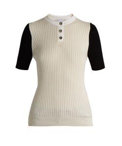 Courrèges | Bi-Colour Cotton And Cashmere-Blend Top