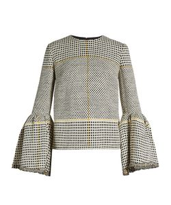 Roksanda | Truffaut Bell-Sleeved Basket-Weave Top