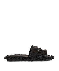 Simone Rocha | Ruffled Leather Slides