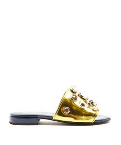 Toga | Embellished Patent-Leather Sandals