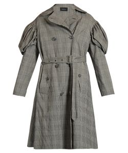 Simone Rocha | Prince Of Wales-Checked Trench Coat