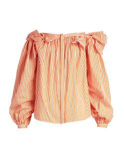 Maison Rabih Kayrouz   Off-The-Shoulder Striped Cotton Top