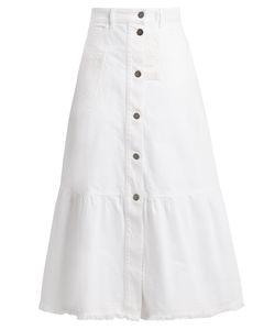 Valentino | High-Waisted Denim Skirt