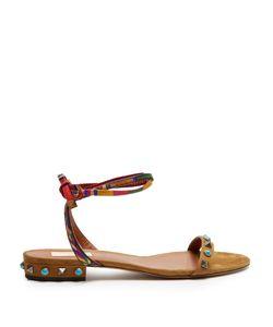Valentino | Rockstud Rolling Suede Flat Sandals