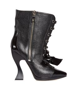 Loewe   Curved-Heel Lace-Up Boots