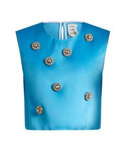 Maison Rabih Kayrouz   Embellished Duchess-Satin Top