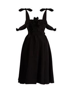 Maison Rabih Kayrouz   Tie-Waist Cotton-Poplin Dress