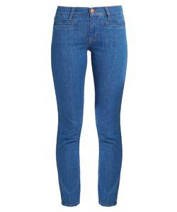 M.i.h Jeans   Paris Mid-Rise Slim-Leg Cropped Jeans